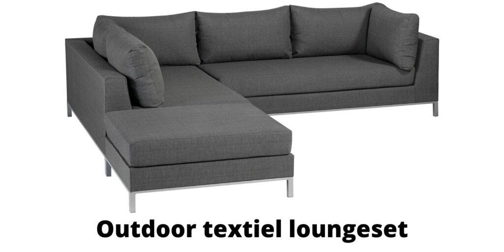 Outdoor textiel loungeset