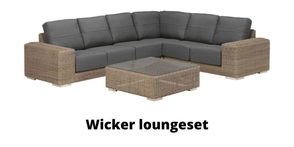Wicker loungeset