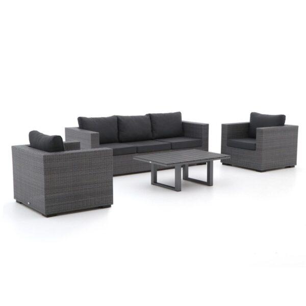 Forza GiottoBolano stoel-bank loungeset 4-delig antraciet
