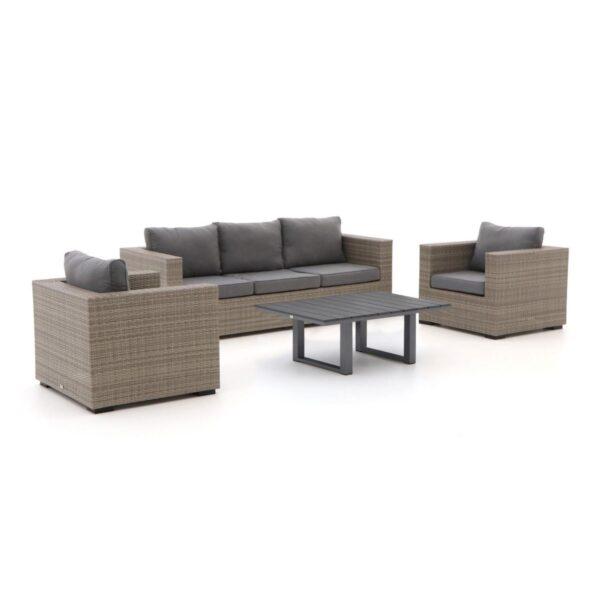 Forza GiottoBolano stoel-bank loungeset 4-delig zwarte tafel